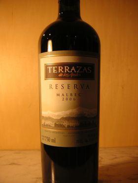 テラザス・デ・ロス・アンデス テラザス レゼルヴァ マルベック[ Terrazas De Los Andes Reserva ]